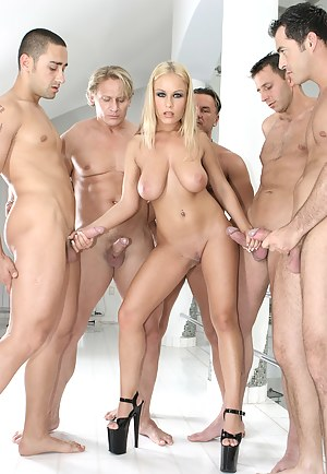 Nude MILF Gangbang Porn Pictures