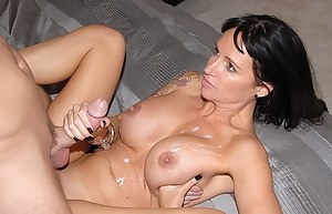 Nude Cum on MILF Tits Porn Pictures